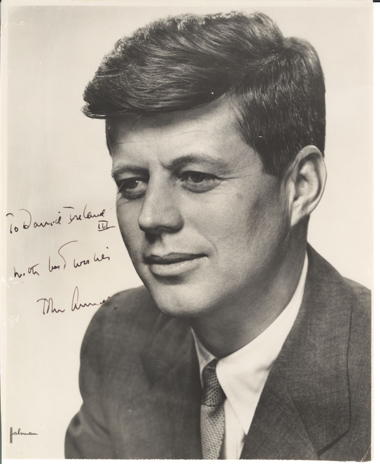 Lot Detail John F Kennedy Halsman Sp