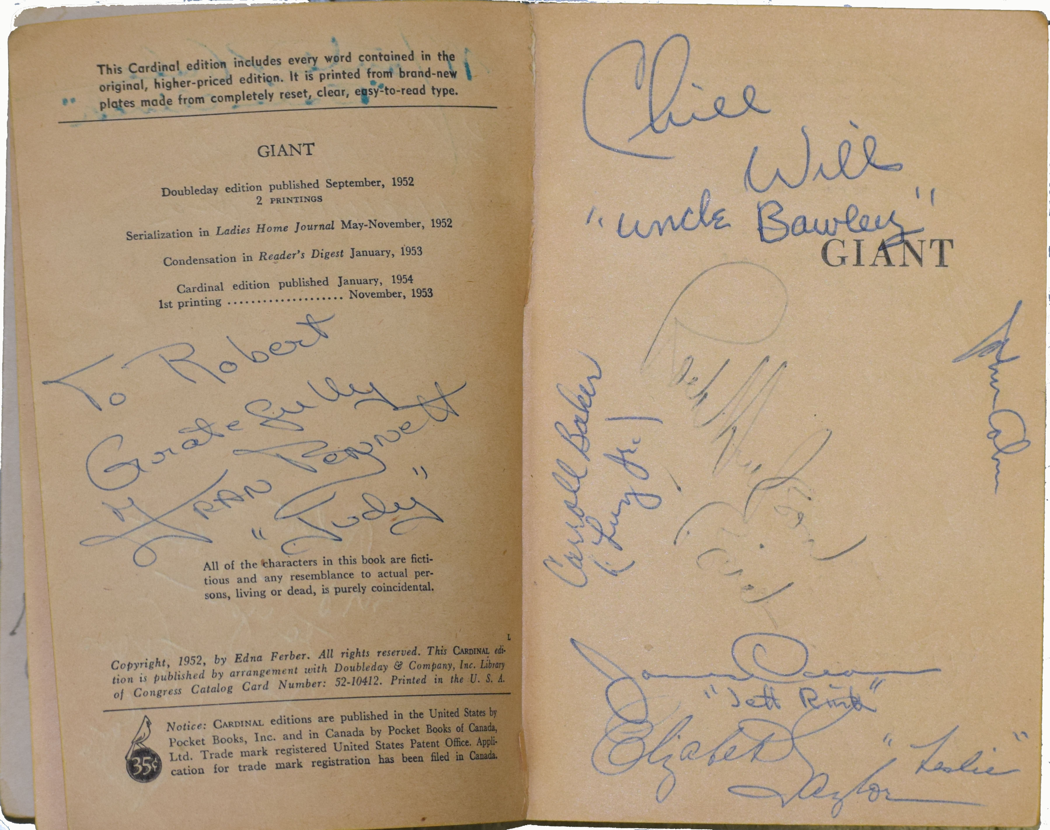 Incredible Crew Signed Copy Of Giant By The