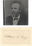 Rutherford B. Hayes full Signature