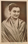 Indira Gandhi Signed Photo