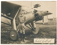 1927 CHARLES LINDBERGH SIGNED PHOTO & WELCOME HOME DINNER PROGRAM