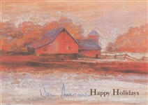 Neil Armstrong Signed Christmas Cards