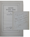 Gone With The Wind Signed by Clark Gable at his character Rhett Butler