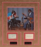 Rare Stevie Ray Vaughan and Albert King Autographs