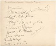 Kate Smiths Album Page signed by Cole Porter, Marlene Dietrich