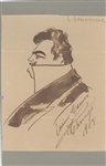 Enrico Caruso Original Drawing