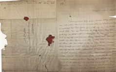 Extremely Rare Manuscript letter- Signed by Saint Mother Elizabeth Seton and family!