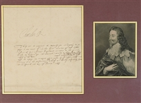 King Charles I (possibly a Warrant related to Sir John Eliot)