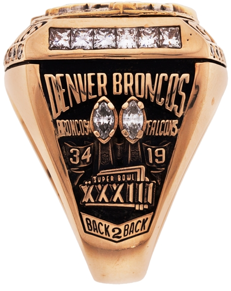 1999 Denver Broncos Super Bowl XXXIII Championship Ring