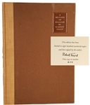 Robert Frost Signed (A Masque of Reason)