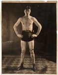 Uncommon Early Vintage photo of  Jack Dempsey Champion Heavyweight Boxer