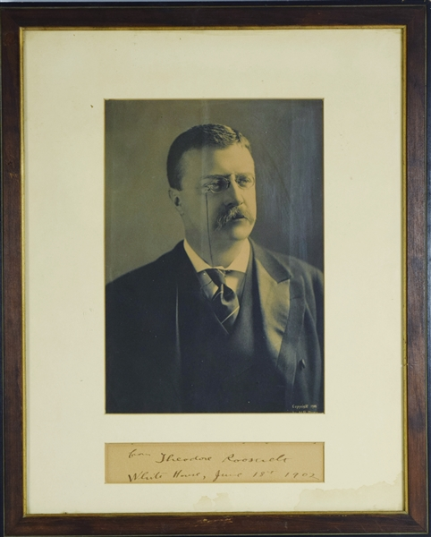 Theodore Roosevelt Photo with signature below