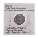 St. Helena, Empress, mother of Constantine, AE3