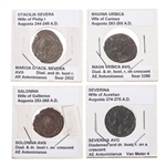 [Ancient] 4 Roman Women on Antoninianus coins