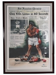 "Muhammad Ali Signed ""Clay KOs Liston in 60 Seconds"" Canvas Giclee"