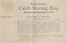 Caleb Strong Military commission