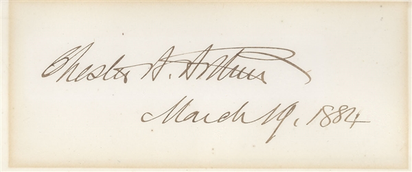 Chester Arthur Signature as President
