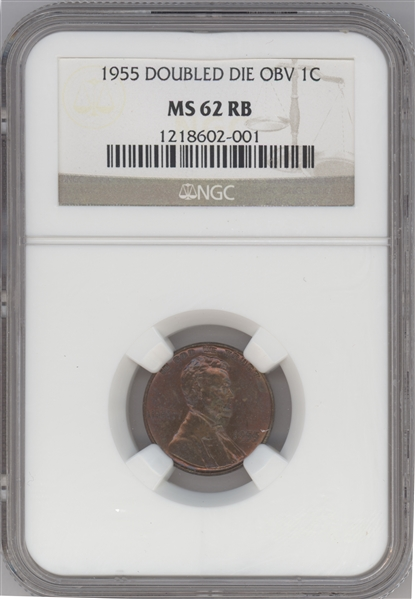 1955 Doubled Die penny – MS62 Red/Brown