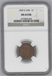 1909-S VDB penny - MS64 Red/Brown