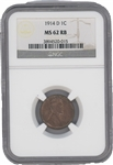 1914-D penny – MS62 Red/Brown
