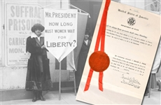 "Original 19th Amendment ""Proposing an amendment to the Constitution extending the right of suffrage to women."""