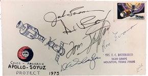Apollo–Soyuz Signed Cover by 5 Apollo Astronauts