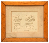 "Samuel Francis Smith  Original Handwritten  ""America"""