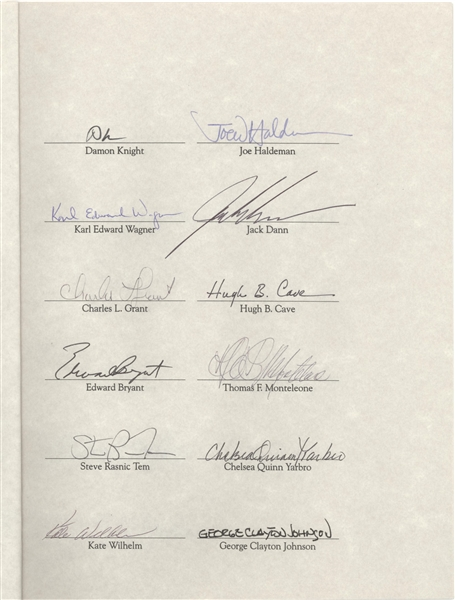 MASTERS OF DARKNESS HORROR & SCIENCE-FICTION AUTHORS MULTI-SIGNED LIMITED EDITION SIGNED FOLDER