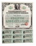 Fourth Liberty Loan 4 1/4% $50 Bond Oct. 24, 1918.
