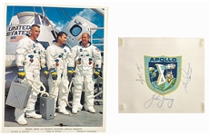 Apollo 10 Crew  Signed Beta Cloth