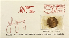 John Young signed 1969 Cover Apollo 10