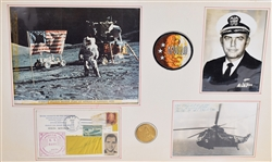 Rare Apollo 17 Signed Recovery Force on USS Ticonderoga