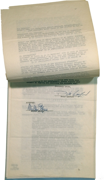 Peter Lawford Oceans 11 Original Signed Contract