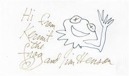 "Original Henson Sketch of ""Kermit The Frog"
