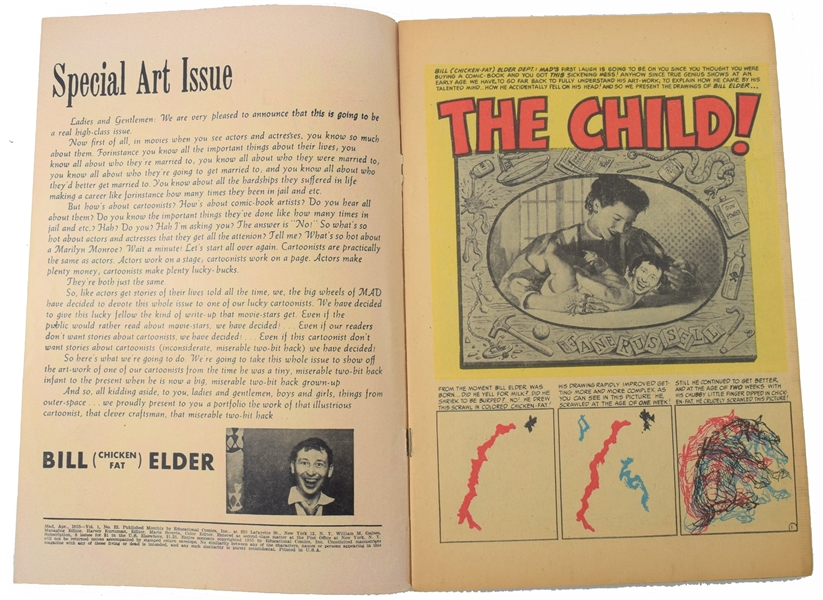 Mad #22  (EC, 1955)  the special art issue,