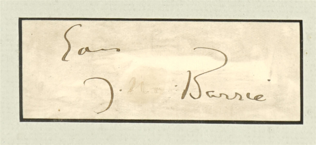Peter Pan signature of Author J.M. Barrie