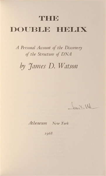 James Watson, Signed The Double Helix