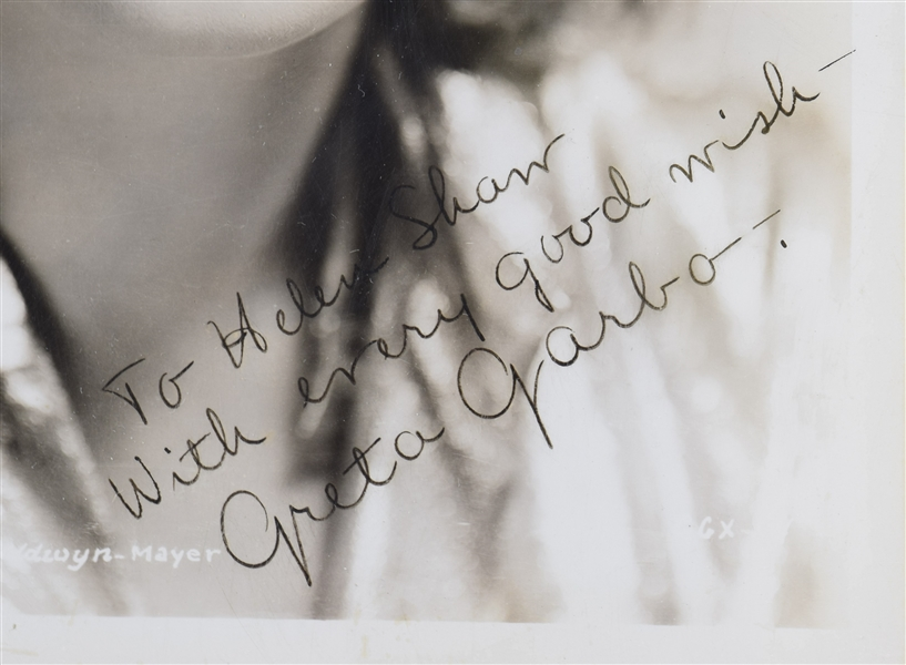 Amazing Rare Great Garbo Signed Photo
