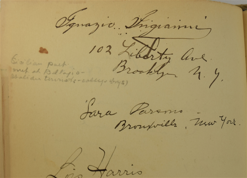 Khalil Gibran Signed Unpublished Quotation! in Autograph Album with Many Other Famous Luminaries