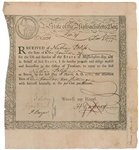 Colonial Massachusetts Bay State 6% Interest Treasury Certificates December 1, 1777