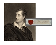 Lord Byron Signature with His  Wax Seal
