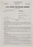 James Taylor 1970 Music Contract