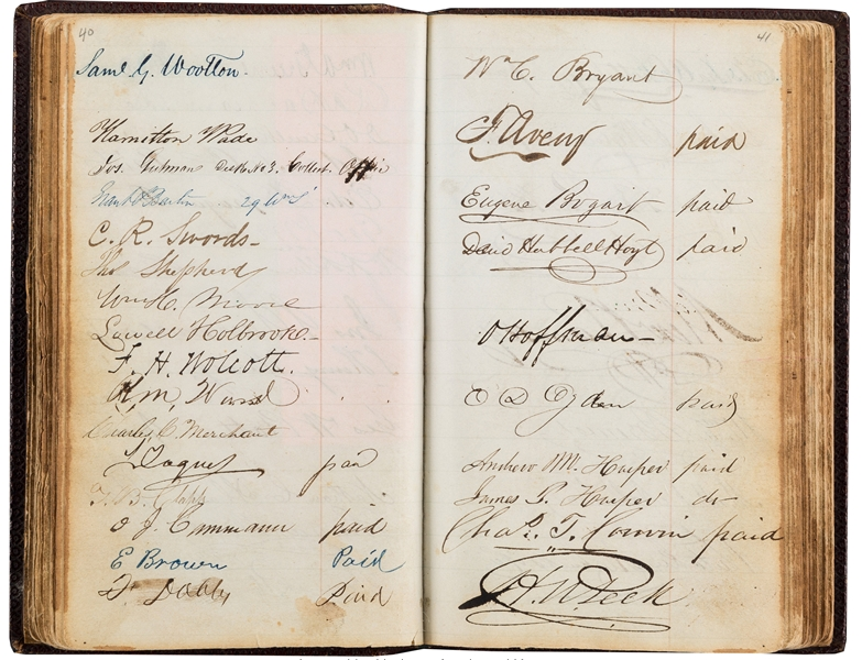 Subscription for Portraits of the Presidents Signed by J. Q. Adams, Polk, Jackson, Buchanan, and Writers Dickens, Bryant and More!
