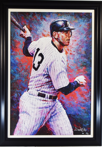 2007 Alex Rodriguez Signed Doo S. Oh Giclee Canvas