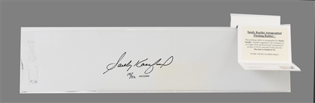 "Sandy Koufax Full-size authentic pitching rubber (24"" x 6"") made by Schutt Sports."