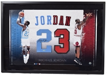 Michael Jordan Signed Upper Deck Display Piece