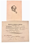 Nathaniel Hawthorne Signed Certificate