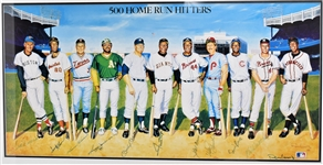 1988 500 Home Run Hitters Multi-Signed Lithograph