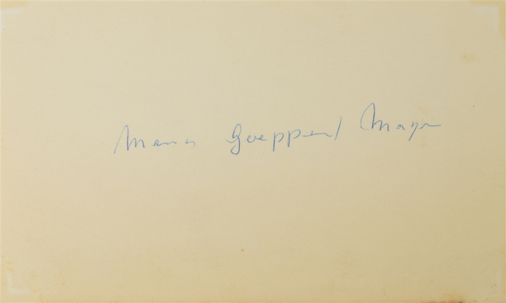 Maria Goeppert Mayer Rare autograph of the Second woman to win a Nobel Prize in Physics!