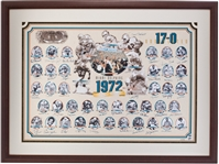 1972 Miami Dolphins Team Signed Print - Undefeated World Championship Season!